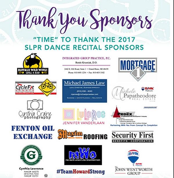 2017 Dance Sponsors