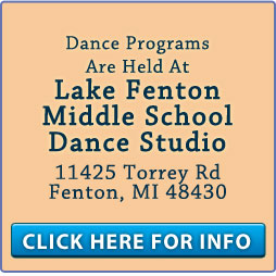 All dance classes are held at Lake Fenton Middle School Dance Studio