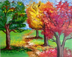 Fall Foliage  -Painting with a Twist