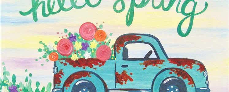 Painting With a Twist - Hello Spring